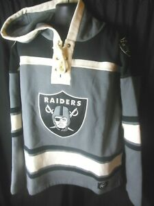 Raiders NFL Men's '47 Brand Jersey Lacer Hooded Pullover Sweater