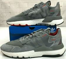 Adidas Boost Nite Jogger Shoes 3M Reflective Gray White Black Red Men 8.5 9.5 10