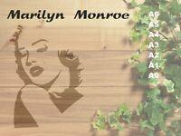 Marilyn Monroe  Stencil 350 micron Mylar not thin stuff#Fam10