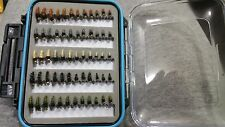 72 BH Caddis Larva Fly Box - Trout Wet Flies Fly Fishing Flies US Veteran Owned