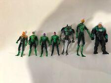 "DC Comics Green Lantern Action Figures 4"" Lot Of 7"