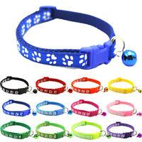 Katzen Halsband mit Glocke im Pfoten Design Ideal auch für Hunde in 12 Farben!