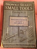 VINTAGE---SMALL TOOLS BY BROWN & SHARPE----- CATALOG NO.33----SHIPS FREE