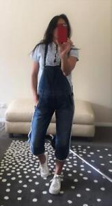 $300 55dsl DIESEL denim jeans OVERALLS 10 jumpsuit NWT romper playsuit shortalls