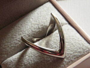 Double Wishbone ring 925 Sterling Silver size J/K