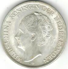 TMM* 1944D Netherland/Curacao silver coin 2 1/2 Gulden Wilhelmina EF