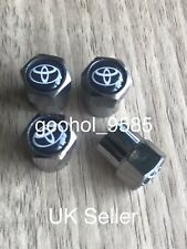 Silver Chrome Plastic Tyre Valve Dust Caps For Toyota (Yaris,Rav 4)