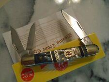 "Kissing Crane Smoky Hollow Bone Pearl 3 Blade Whittler Pocket Knife 5555 3 1/2"""