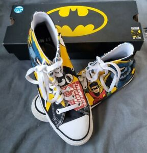 Good Condition Size 8 Mens Limited Edition DC Batman & Robin boxed  Converse