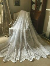 SALE! STUNNING NEW HUGE 300cmsx228cms LACE/NET FRENCH STYLE CURTAIN/PANEL