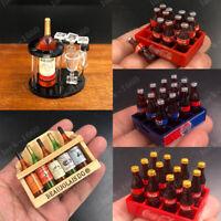 """1/6 Scale Wine Bottle Model & Cola Bottle Model Scene Accessories for 12"""" Figure"""