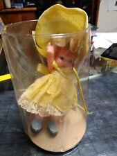 Knickerbocker Small Hard Plastic Jointed Doll yellow dress blue eyes mint blonde