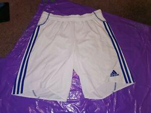 "Men's Adidas Sports Shorts Vtg polyester Football  gym fitness Large 36"" White"