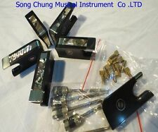High quality 5 pcs ebony cello bow frogs with silver mounted