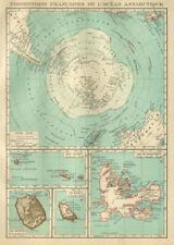 FRENCH ANTARCTIC Terres australes françaises Crozet Amsterdam Kerguelen 1931 map