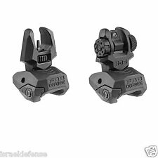 FAB Defense - FBS+RBS - Black Front & Back Polymer Back-Up Picatinny Sight Set