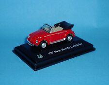 Cararama 1:72 - VW  Beetle Cabriolet - Red - Display Base Says: VW Beetle