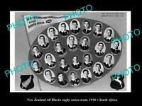 OLD LARGE HISTORIC PHOTO NEW ZEALAND ALL BLACKS RUGBY UNION TEAM 1956 SA TOUR