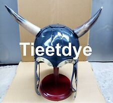 Viking Conan the Barbarian Armor Helmet with Horns & Stand  Free Helmet Stand