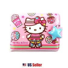 Sanrio Hello Kitty Vinyl Wallet Card Coin Case Pouch : Roller Skating Kitty