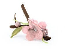 Cherry blossom brooch, twig pin, tree branch brooch, woodland and rustic jewelry