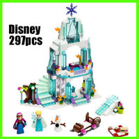 Disney Princess lego Set Frozen Elsa's  Ice Castle 297 PCS For Girl Gift