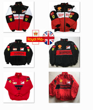 2021 FERRARI Red black Embroidery EXCLUSIVE JACKET suit F1 team racing