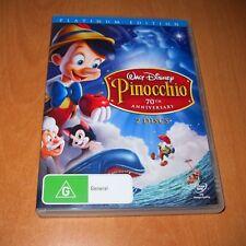 PINOCCHIO - DISNEY PLATINUM EDITION , DVD 2 DISC SET Region 4  ~ Excellent