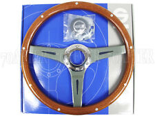 Sparco Steering Wheel - Sanremo (355mm/40mm Dish/Polished Mahogany Wood)