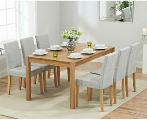 50% OFF 150cm Solid Oak Table + 6 Chairs