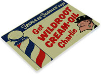 TIN SIGN Wildroot Cream-Oil Metal Décor Art Barber Pole Shop Store Farm A683