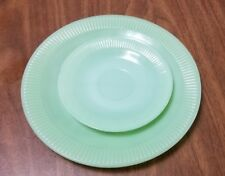 Vintage fire king jadeite plate and saucer