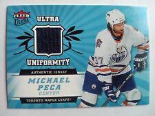 2006-07 Fleer Ultra Uniformity Michael Peca Toronto Maple Leafs - Jersey BLUE