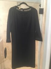 Talbots Woman Black Crochet Trim Dress Plus size 18W MSRP $149