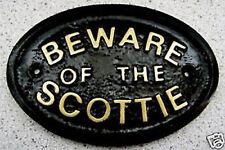 BEWARE OF THE SCOTTIE SCOTTISH TERRIER - HOUSE DOOR PLAQUE DOG SIGN