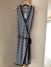 Lovely MISSONI for TARGET Black White Sleeveless Knit Wrap Dress Sz S NWT
