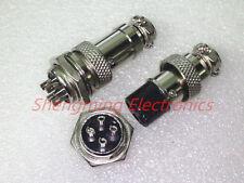 50 set Aviation Plug GX16-4 Male & Female Panel Metal Connector Silver 16mm 4pin