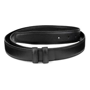 """Saffiano Leather 30 mm Replacement Belt Strap For Men's buckles Adjustable 38"""""""