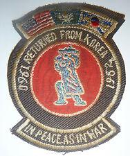 Patch - 1960 - 1962 - US VETERAN - KOREA OCCUPATION - In Peace as In War - 8652