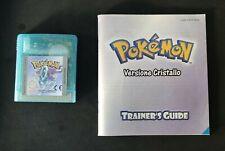 Pokemon versione CRISTALLO ITA Game Boy Color batteria funzionante