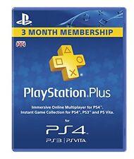 PlayStation Plus 90 Day Membership Card (PS3 + PS4)