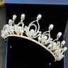 Wedding Bridal Crystal Pearl Headband Princess Crown Tiara Hair Accessories New