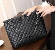 Woman Quilted Genuine Leather Shoulder Messenger New Womens Chain bucket Bag