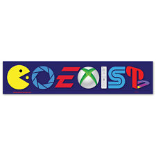 CS259 - Coexist Video Games Parody Color Sticker Pac Man WII Sega EA PS4