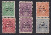 PNG820) New Guinea, NWPI 1931-22 KGV colour changes set, SG 119-124