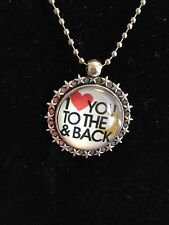 "HOT ""I LOVE YOU TO THE MOON AND BACK"" Photo Alloy Necklaces & Pendants #9"