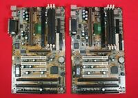 Lot of 2 MSI MS6119 VER 1.1 BX2 SLOT1 ISA PCI AGP ATX MOTHERBOARD *AS IS*