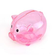 Cute Piggy Bank Money Box Saving Coins Cents Fun Gift Plastic Pig Kids Toys HQ