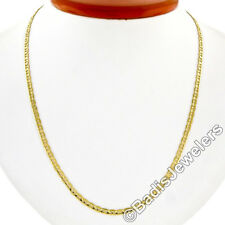 "Italian 14K Yellow Gold 18"" 3.2mm Gucci Link Chain Necklace Lobster Clasp 7.51g"