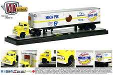 YELLOW 1956 FORD COE WITH MOON PIE TRAILER M2 MACHINES 1:64 SCALE DIECAST MODEL